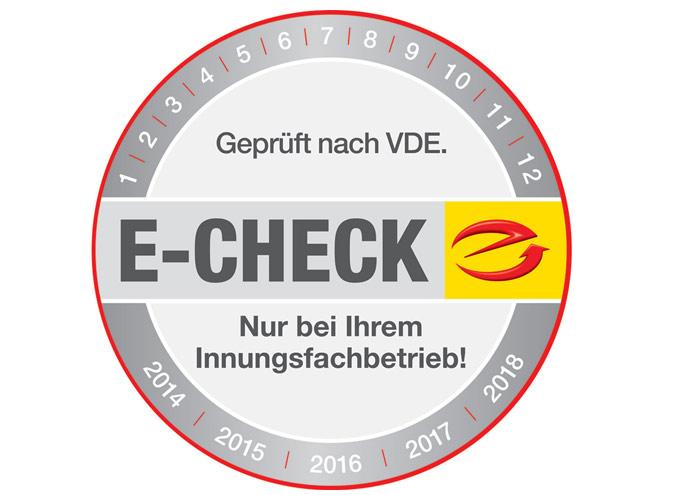 Zertifizierter Fachbetrieb für den E-CHECK